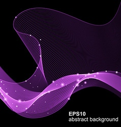Abstract futuristic wave background vector