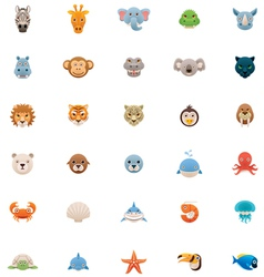 Animals icon set Part two vector