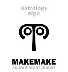 Astrology planet makemake vector