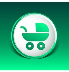 baby stroller icon maternity wheel born pram vector image