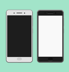 Black and white smartphones template vector
