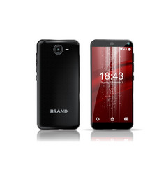 black smartphone front and back view with nice vector image