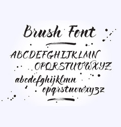 Brush lettering alphabet vector