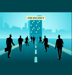 Business concept for job vacancy vector