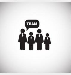 business team on white background vector image