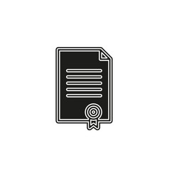 certificate creative icon simple element vector image