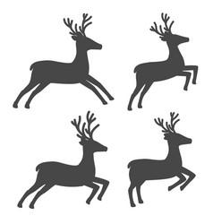 christmas reindeer set on white background vector image