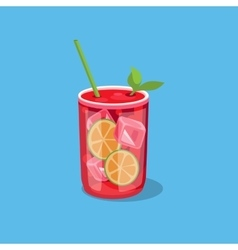 Cold Alcohol Coctail vector image