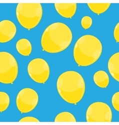 Color Glossy Balloons Seamles Pattern Background vector