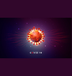 covid-19 coronavirus outbreak design with virus vector image
