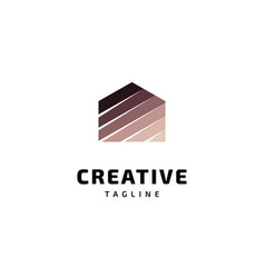 creative house logo design vector image