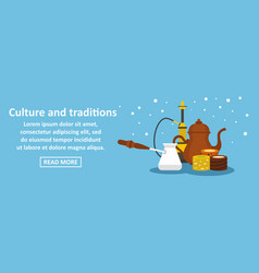 culture and traditions turkey banner horizontal vector image