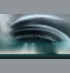 Dark stormy clouds twisting in tornado vector