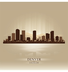 Denver Colorado skyline city silhouette vector