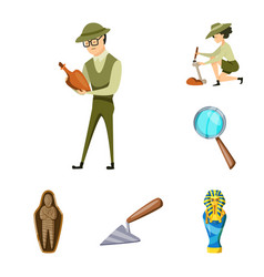 Design of archaeology and historical symbol vector