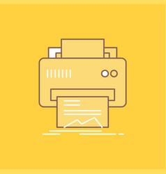 digital printer printing hardware paper flat line vector image