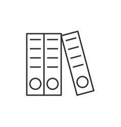 Documents folders line icon vector