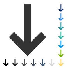Down arrow icon vector