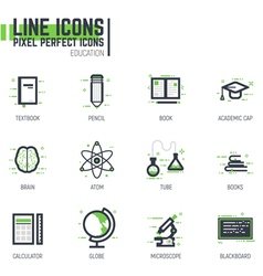Education line set vector image vector image