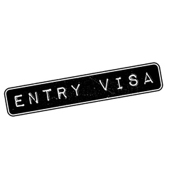 Entry Visa rubber stamp vector image