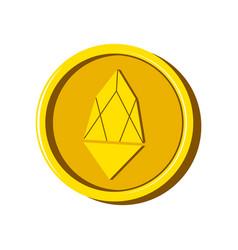 eos virtual money currency vector image