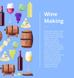 Exquisite wine making process promotional poster vector