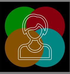 female avatar icon vector image