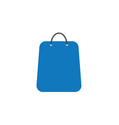 flat design style of shopping bag icon on white vector image