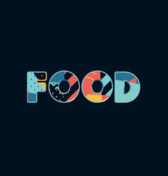 Food concept word art vector
