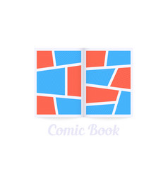 Frame comic book realistic border vector