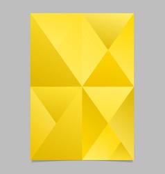 Geometrical gradient triangle mosaic brochure vector