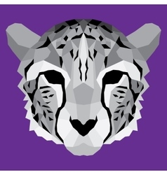 Gray low poly cheetah vector image
