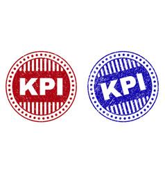 Grunge kpi textured round watermarks vector
