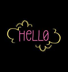 Hello doodle floral frame-12 vector