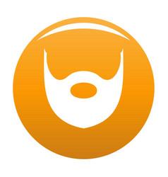 Hipster beard icon orange vector