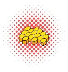 Honeycomb icon comics style vector