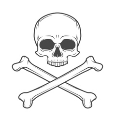 Human evil skull Pirate insignia concept vector image