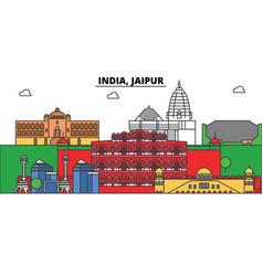 India jaipur hinduism city skyline vector