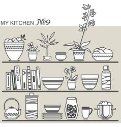kitchen9 vector image