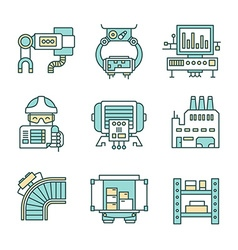Manufacturing Process Icons vector image