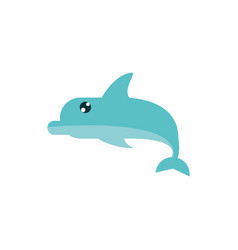marine life dolphin cartoon sea fauna animal vector image