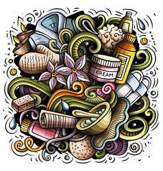 Massage hand drawn doodles vector