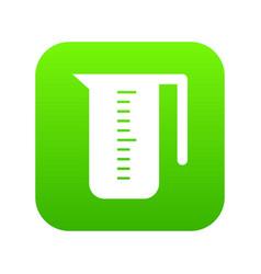 measuring cup icon digital green vector image