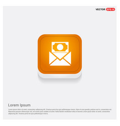 message icon orange abstract web button vector image