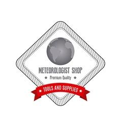 Meteorologist Label vector
