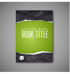 modern abstract book cover template vector image