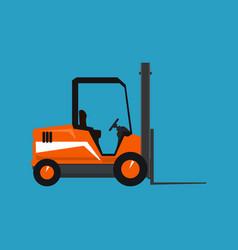 Orange vehicle forklift isolated vector
