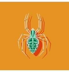 Paper sticker on background of araneus vector