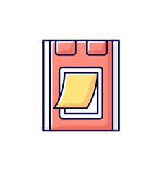 Pet doors rgb color icon vector