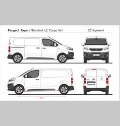 Peugeot expert cargo standard van l2 2016-present vector